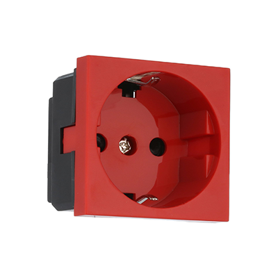 Electrical socket 45x45mm, red